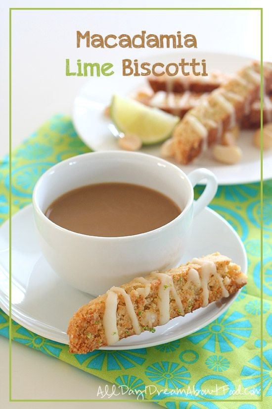 Low Carb Macadamia Lime Biscotti - crunchy, buttery and perfect with your morning coffee. #lowcarb #lchf