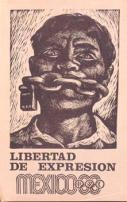 Students call for freedom of expression in this poster issued during the Olympic Games, Mexico, 1968