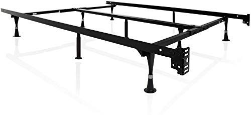Buy Structures Malouf Heavy Duty 9 Leg Adjustable Metal Bed Frame