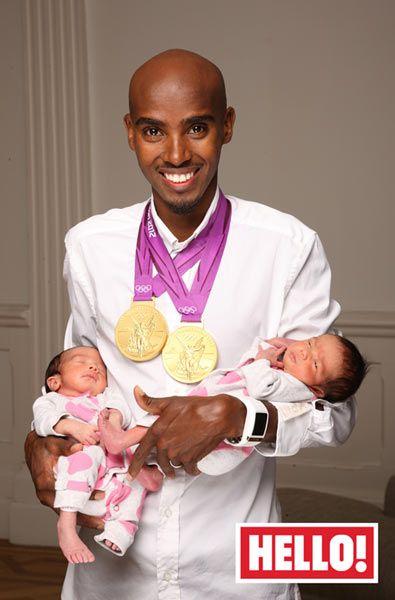 Mo Farah and his beautiful twin daughters
