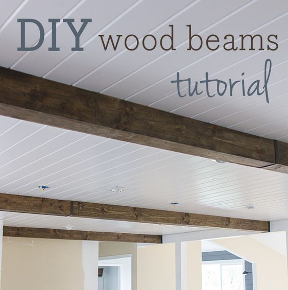 Follow jenna sue design blog metal hangers plank for Faux wood ceiling planks