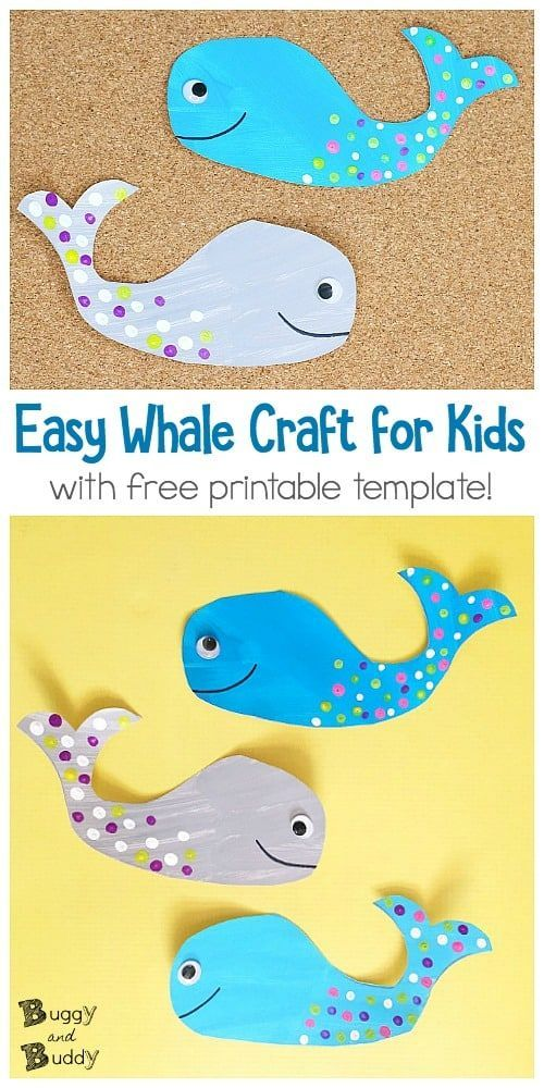 Whale Craft For Kids With Free Printable Template With Images
