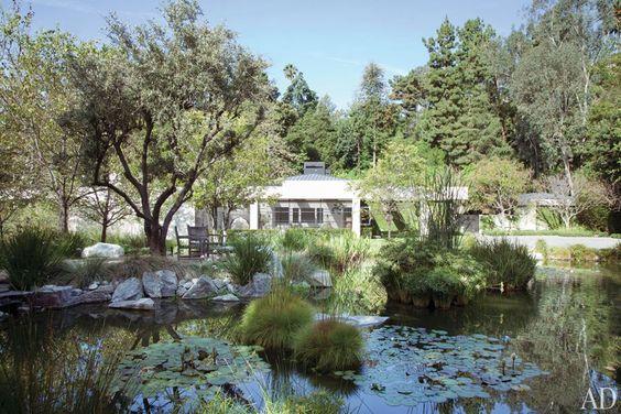 Ellen DeGeneres and Portia de Rossi home, view from the garden