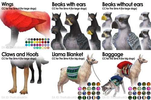 List Of All My Cc For Your Animals Sims Pets Sims 4 Pets Sims