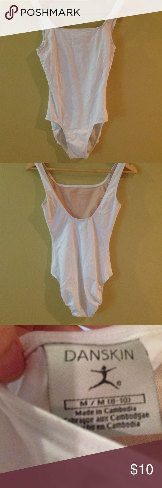 White cotton leotard White danskin cotton leotard with bra lining and modest neckline. Danskin Other