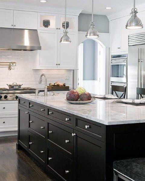 Top 50 Best Black Kitchen Cabinet Ideas Dark Cabinetry Designs In 2020 Kitchen Cabinet Design Kitchen Interior Black Kitchen Island
