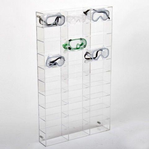 Acrylic Goggle Display Storage Wall Mounted Or Free