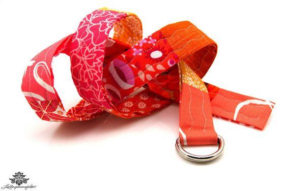 Patchwork - Gürtel in pink und orange - ein Einzelstück aus der #Lieblingsmanufaktur
