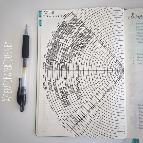 Quarter Circle Habit Tracker