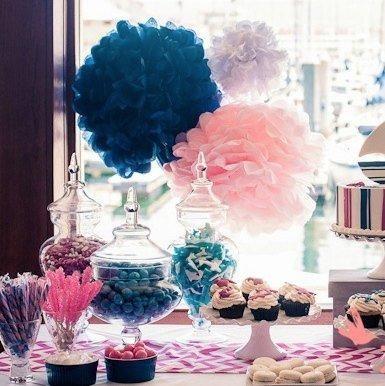 de mariage bleu marine et rose plus mariage bleu et rose pom de ...