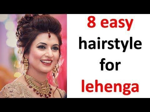 Hairstyle On Lehenga Simple In 2020 Lehenga Hairstyles Short Hair Styles Easy Easy Hairstyles