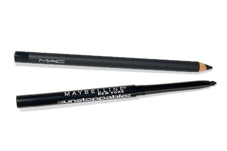 Best Eyeliner: READERS: Maybelline New York Unstoppable Eyeliner (bottom) &  EXPERTS: M.A.C Pro Chromagraphic Pencil (top)