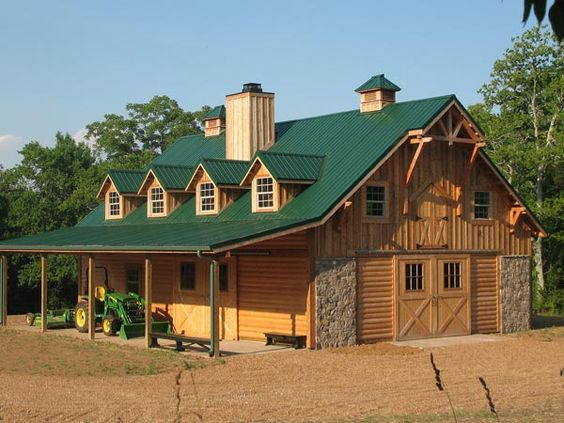 Barns horse barns and prefab barns on pinterest for Barns with apartments above