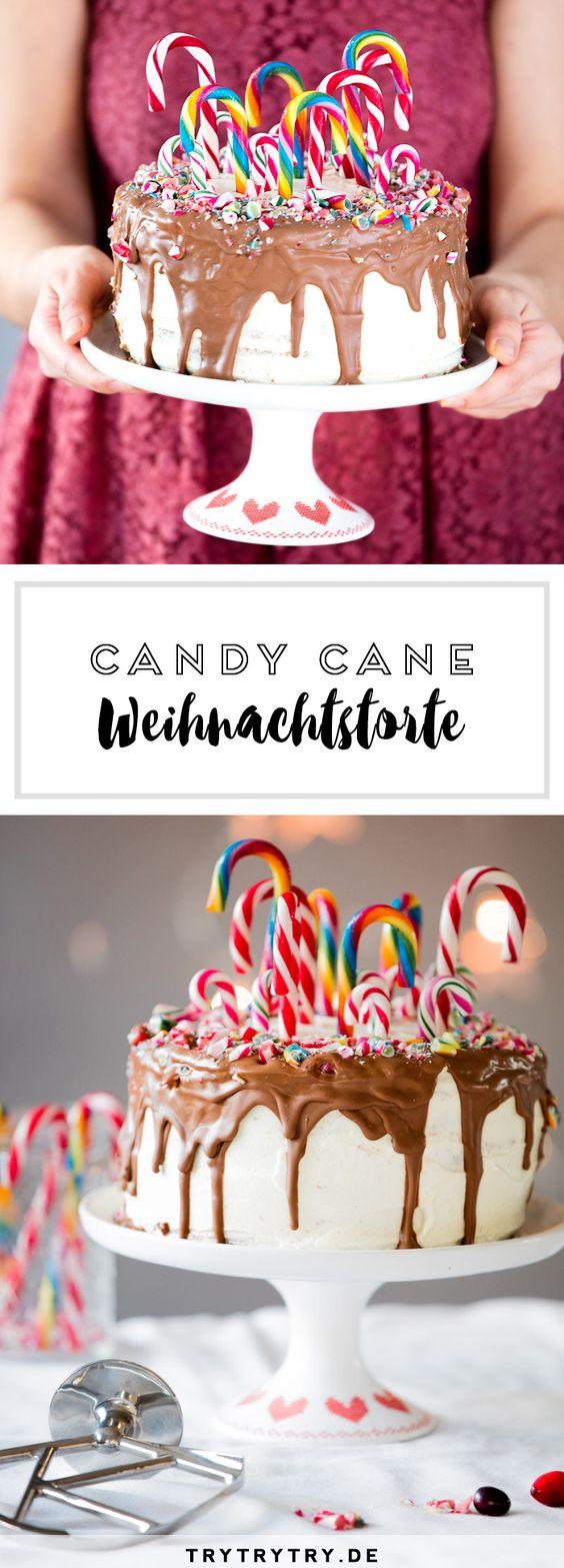 Candy Cane Weihnachtstorte