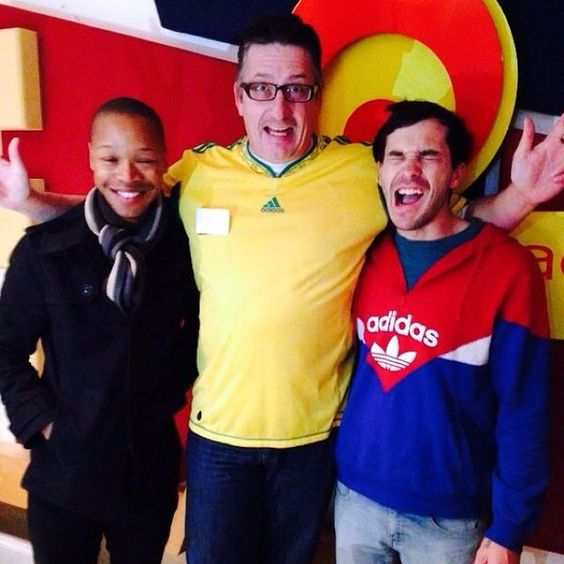 Quirky and super adorable @matthewjmole and Nakhane Toure in studio this morning! Thanks for the sweet tunes!