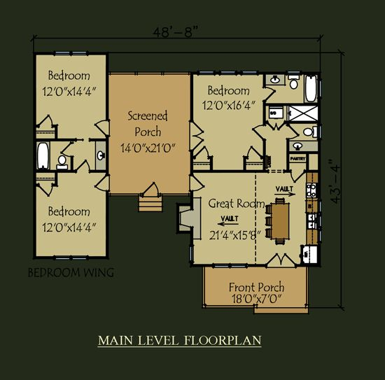 Love This Floorplan Camp Creek Cabin House Plan Dog