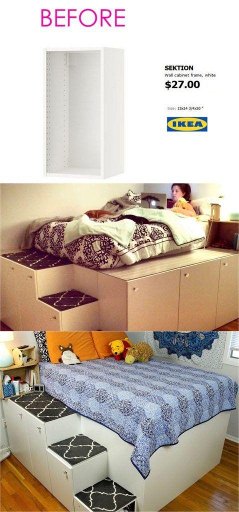 Sachez Qu Avec Des Meubles Ikea Vous Pouvez Recreer Une Autre Ambiance De Decoration Avec Ces Id Remodel Bedroom Master Bedroom Remodel Diy Furniture Bedroom