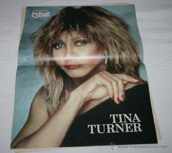Newspapers and Magazines Collectibles: ESTHER COMIC MAGAZINE 1985 POSTER OF TINA TURNER - Photo 3-51129252