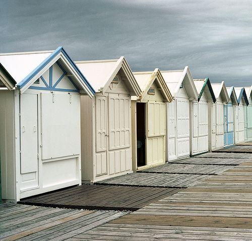 Cabines de plage - Cayeux-Sur-Mer - Photo couleur argentique