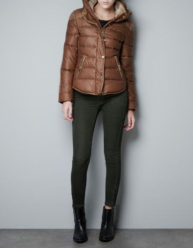 Brown Puffa Jacket - JacketIn