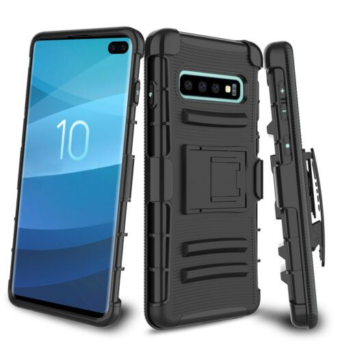 For Samsung Galaxy S10 Plus Phone Case Kickstand Hybrid Rubber Rugged Hard Cover Phones For Sale Ebay Phone