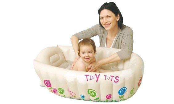 Groupon Goods Global GmbH: Vasca da bagno gonfiabile bimbi in 2 colori a 16,99 € (83% di sconto)