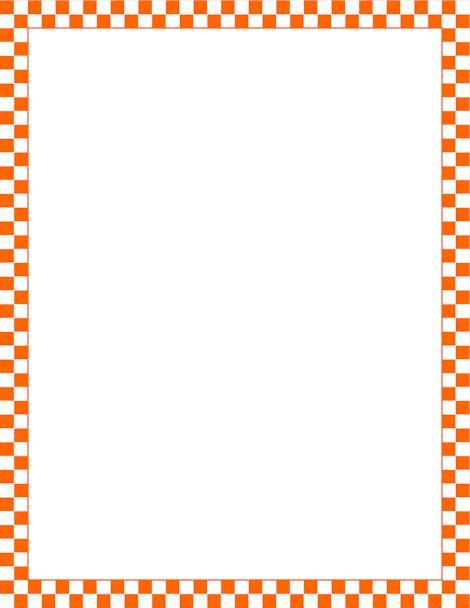Printable orange and white checkered border free gif jpg pdf and