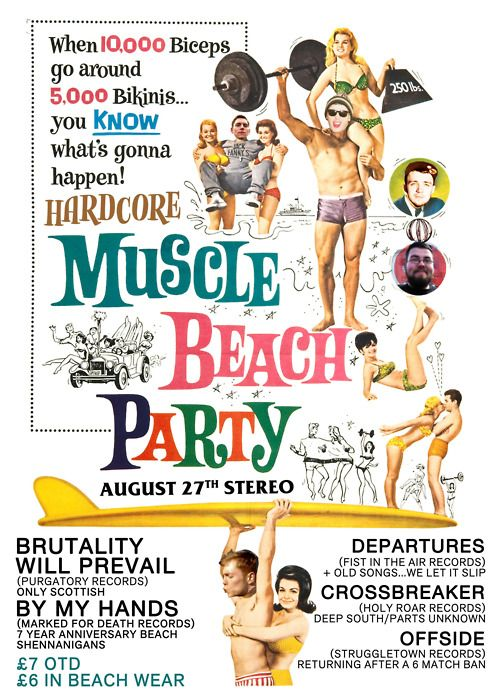 Brutality Will Prevail (Didn't get to play) By My Hands, Departures, Crossbreaker, Offside - Hardcore Beach Party - Stereo