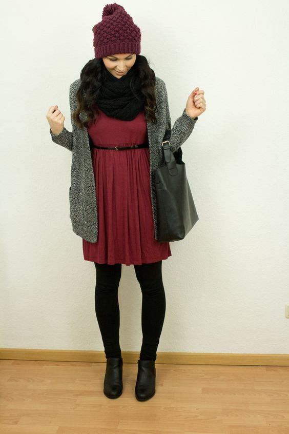 Cozy Herbstoutfit ♥ Stylefruits Inspiration ♥ #cozy #herbst #kleid #mütze