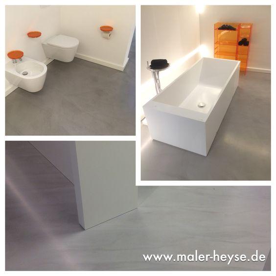 Fugenlose Spachtelböden, Mineralico ausgeführt in den Ausstellungsräumen von Wiedemann in Hannover
