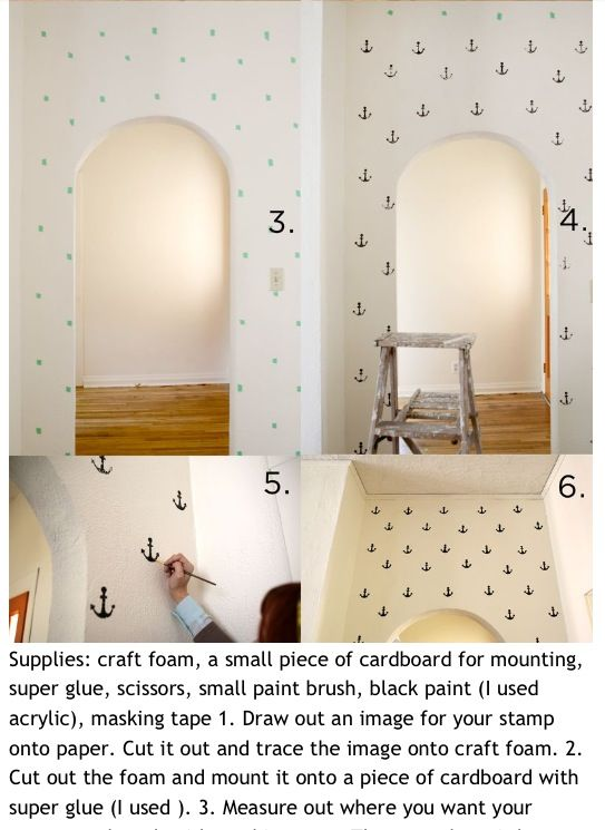 How to make a anchor wall. Step 2