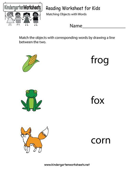 Kindergarten Reading Worksheet for Kids Printable | Kids ...