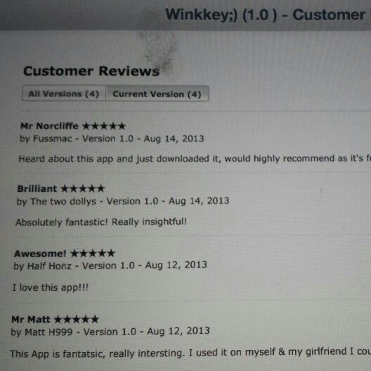 #iTunes #appstore! Great all 5 star reviews ;-)