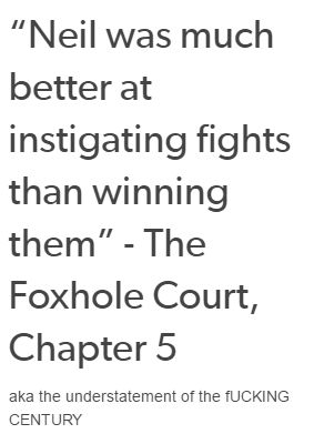 Neil   The Foxhole Court   The Raven King   The King's Men   [All for the Game]