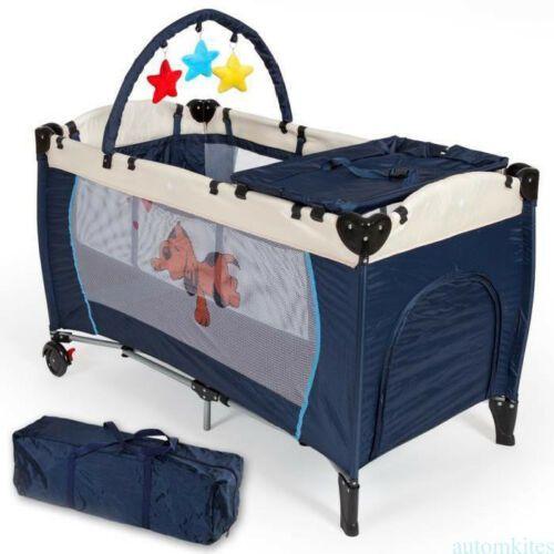 Portable Infant Child Baby Playard Travel Cot Bed Playpen Bassinet