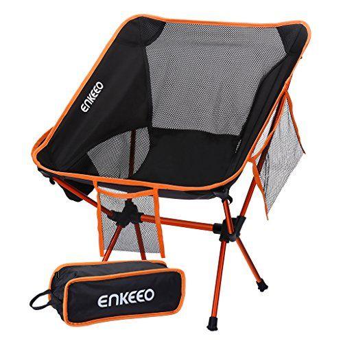 Enkeeo Chaise De Camping Pliable Chaise Camping Ultra Legeres Portatives Avec Le Sac De Transport Sillas Plegables Sillas De Campo Sillas Plegables De Metal