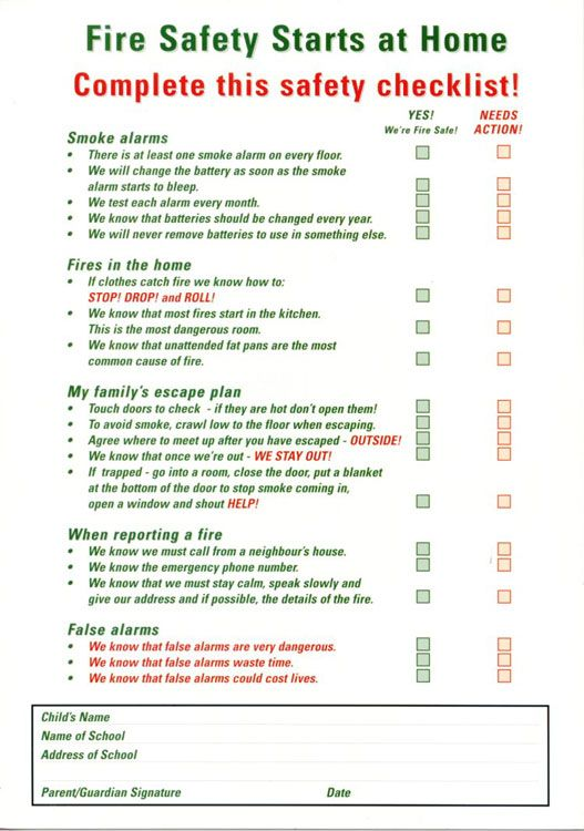 Home fire safety plan firefighting interaction for Fire prevention tips for home