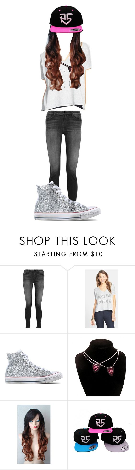 """""""Ootd"""" by wont-stop-loving-queen-rydel ❤ liked on Polyvore featuring J Brand, Ten-Sixty Sherman and Converse"""