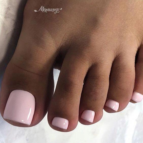 Easy Diy Summer Nails Braid Tutorials Nailcolorideassummer Pink Toe Nails Gel Toe Nails Pretty Toe Nails