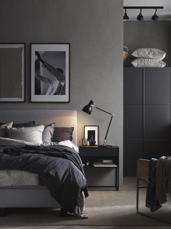 Inspiracion Para Decorar El Dormitorio En Color Gris Decoraciones De Dormitorio Decoracion De Dormitorio Para Hombres Diseno De Dormitorio Para Hombres