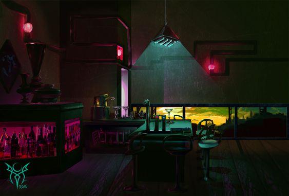 Cyberpunk Bar - Mo Chamas