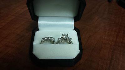 STUNNING 3.32ct Platinum Verragio Engagement and Wedding Ring Set