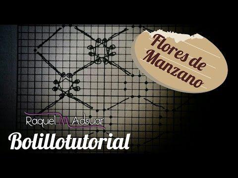 Fondo FLORES DE MANZANO - Bolillotutorial ADSUAR - Encaje de Bolillos - YouTube