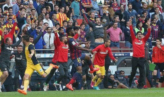 Final del partido y #Atleti #CampeonDeLiga