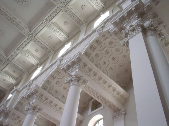 Detail of ceiling and arcading by Gerry Morris    Christ Church, Spitalfields, London, built by Nicholas Hawksmoor 1714-1729