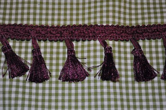 Quastenborte & Fransenband - quastenborte violett - ein Designerstück von Kruemel-Design bei DaWanda