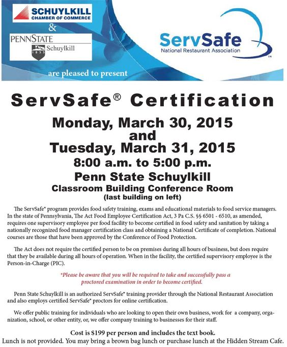 ServSafe Certification 11-17-14   Education Committee Events   Pinterest