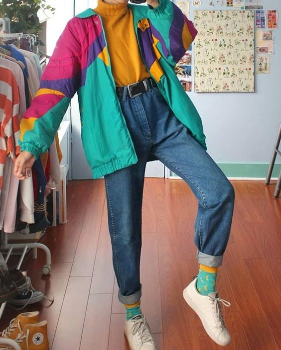 Vintage Windbreakers Thrift Shop Treasure Girlfriend Is Better Retro Outfits 90s Fashion Outfits Retro Fashion