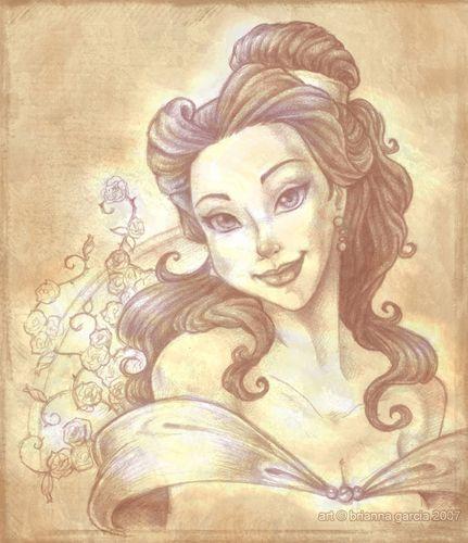 Belle - classic-disney Fan Art