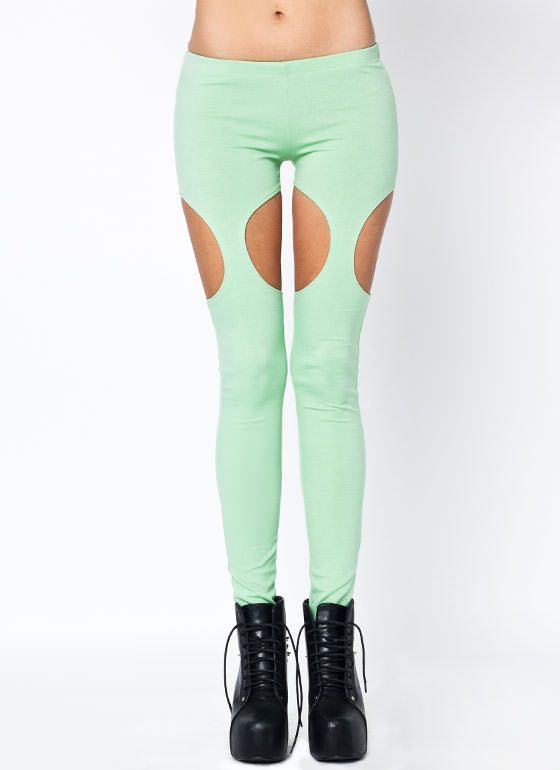 cut-out garter leggings 19.00